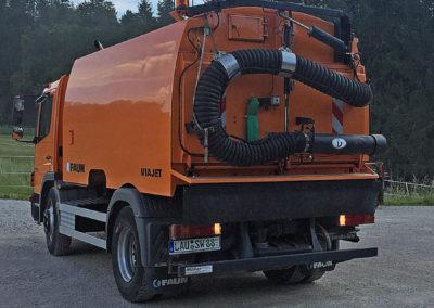 Kehrmaschine Mercedes Benz Atego, Aufbau Faun Viajet 6R/H mit Wildkrautbesen